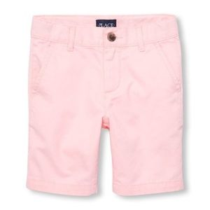 SOON IN Childrens Place Pink Chino Shorts-Size 5